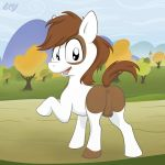balls cub equine feral friendship_is_magic horse ixbalam male mammal mane my_little_pony open_mouth pipsqueak_(mlp) pony solo tail young