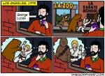 anthro attack bear chewbacca clothing comic cup english_text human humor imagination luke_skywalker male mammal onegianthand star_wars sweater text window wookiee
