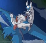 absol anal anal_penetration balls canine cloud dragon feral feral_on_feral flying flying_sex fuf latios legendary_pokémon male male/male male_penetrating mammal nintendo penetration pokémon pokémon_(species) sex sky video_games