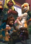 anthro areola athletic atryl balls bear big_balls big_breasts big_penis black_fur blonde_hair blue_clothing blue_nipples blue_nose blue_pussy blue_tongue blue_topwear bottomless breast_fondling breasts brown_eyes brown_fur brown_hair cake canine clothed clothed_sex clothing clothing_lift colored_nails countershading dickgirl dickgirl/female dickgirl_penetrating digital_media_(artwork) dog ear_piercing erect exposed_breasts feline female fondling food fur green_clothing green_eyes green_topwear group group_sex hair hand_on_breast hand_on_hip heterochromia hi_res holding_breast holding_penis humanoid_penis intersex intersex/female intersex_penetrating licking licking_lips lion looking_pleasured lying mammal missionary_position mustelid nipples on_back open_jacket open_mouth open_shirt open_smile otter penetration penis piercing pussy pussy_juice raised_shirt sex sherri_mayim shirt shirt_lift smile spread_legs spreading tongue tongue_out vaginal vaginal_penetration voluptuous white_countershading white_fur white_hair