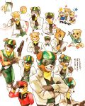 amphibian angry anthro bill_grey black_nose blood brown_fur cake canine chibi clothing cub dog dot_(pixiv) food fox fox_mccloud frog fur group gun hat holding_object holding_weapon jacket looking_at_viewer male mammal menstruation nintendo ranged_weapon sleeping slippy_toad star_fox talwag video_games weapon white_fur wounded young