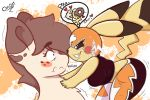 2019 anthro areola big_breasts breasts equid equine female hi_res horse mammal my_little_pony nintendo onsti pikachu pikachu_libre pokémon pokémon_(species) pony smile video_games