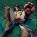1:1 3d_(artwork) anatomically_correct anatomically_correct_genitalia anatomically_correct_pussy animal_genitalia animal_pussy anthro borzoi canid canine canine_pussy canis cervical_penetration cervix digital_media_(artwork) domestic_dog duo ellie_(cookie) feet female female/female fingering first_person_view fisting fluffy foot_focus fur gaping gaping_pussy genitals hair hunting_dog looking_at_viewer mammal multi_nipple nipple_piercing nipple_ring nipples noki-uri nude pawpads paws penetration piercing pussy sighthound solo_focus spread_pussy spreading tchaikovsky2 text url vaginal vaginal_fingering vaginal_penetration