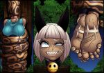 asphyxiation barefoot choking coiling cyborg-steve detachable detachable_head feet female humanoid jungle nadia_fortune python reptile scalie skullgirls snake squeezing strangling video_games vore