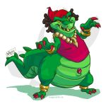 2015 alligator alligatorid anthro belly claws clothing crocodilian female green_body hair mz._ruby reptile scalie simple_background sly_cooper_(series) solo sony_corporation sony_interactive_entertainment sucker_punch_productions unknown_artist video_games white_background yellow_sclera