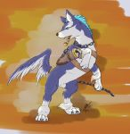 blue_fur canine chain claws dog fangs feral fur male mammal pipe repede tales_of_(series) tales_of_vesperia volac weapon